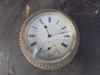 Antique Silver Plated Desk Clock c.1880