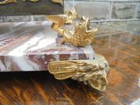 Antique Bronze & Marble Desk Stand Inkwell (9 of 10)