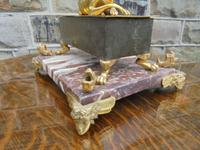 Antique Bronze & Marble Desk Stand Inkwell (10 of 10)