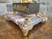 Antique Bronze & Marble Desk Stand Inkwell (4 of 10)