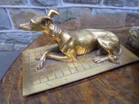 Antique Bronze & Marble Desk Stand Inkwell (3 of 10)