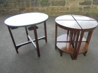 Edwardian Nest of 5 Mahogany Tables (3 of 13)