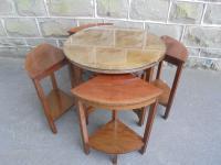 Edwardian Nest of 5 Mahogany Tables (7 of 13)