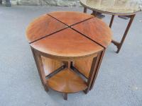 Edwardian Nest of 5 Mahogany Tables (9 of 13)