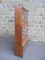 Antique English Oak Stacking Solicitors Bookcase by Gunn (8 of 9)
