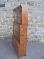 Antique English Oak Stacking Solicitors Bookcase by Gunn (6 of 9)