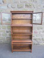 Antique English Oak Stacking Solicitors Bookcase by Gunn (9 of 9)