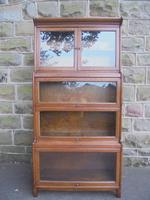 Antique English Oak Stacking Solicitors Bookcase by Gunn (5 of 9)