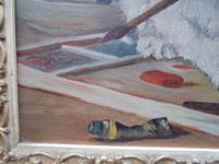 Mischievous Kittens Playing Oil on Canvas (8 of 12)