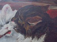Mischievous Kittens Playing Oil on Canvas (5 of 12)