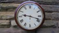 Antique Mahogany Fusee Dial Clock
