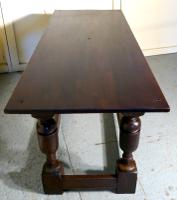 Arts & Crafts Gothic Carved Oak Table (3 of 11)