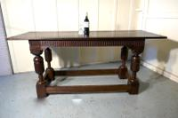 Arts & Crafts Gothic Carved Oak Table (5 of 11)