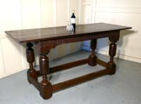 Arts & Crafts Gothic Carved Oak Table (7 of 11)