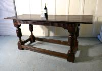 Arts & Crafts Gothic Carved Oak Table (10 of 11)