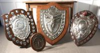 Large Arts & Crafts Shield Trophy with Nike the Goddess of Victory (6 of 7)