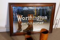 Worthington on Draught Beer Advertising Mirror