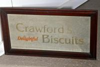 'Crawford's Delightful Biscuits' Baker / Cafe Advertising Mirror (2 of 5)