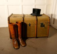 Large Drew & Sons Canvas Steamer Trunk