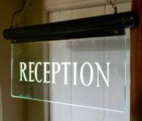 Art Deco Illuminated Hotel Reception Sign