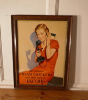 Original Framed Jacobs Cream Crackers Card Poster, from Dublin