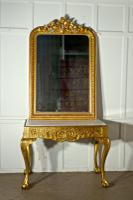19th Century French Marble Top Gilt Console or Hall Table (2 of 6)