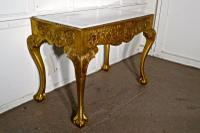 19th Century French Marble Top Gilt Console or Hall Table