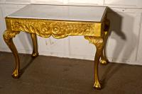 19th Century French Marble Top Gilt Console or Hall Table (5 of 6)