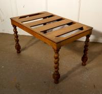 Victorian Oak Luggage Rack, Suitcase Stand