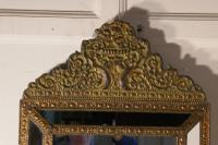 Large Napoleon III French Brass Cushion Mirror (5 of 6)