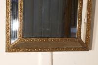 Large Napoleon III French Brass Cushion Mirror (6 of 6)