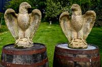 Pair of Large Old Weathered Eagle Statues or Pillar Caps (5 of 9)