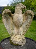 Pair of Large Old Weathered Eagle Statues or Pillar Caps (2 of 9)