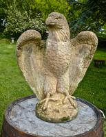 Pair of Large Old Weathered Eagle Statues or Pillar Caps (3 of 9)