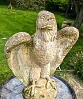 Pair of Large Old Weathered Eagle Statues or Pillar Caps (4 of 9)