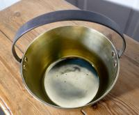 Small 19th Century Brass Preserving Pan or Cooking Pot (5 of 6)