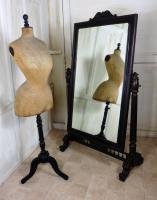 Large 19th Century Breton Oak Cheval Mirror (4 of 7)