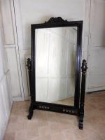 Large 19th Century Breton Oak Cheval Mirror (5 of 7)