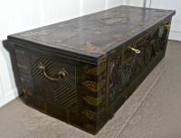 Large North African Carved & Brass Decorated Coffer (12 of 15)