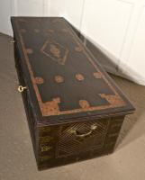 Large North African Carved & Brass Decorated Coffer (9 of 15)