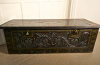 Large North African Carved & Brass Decorated Coffer (6 of 15)