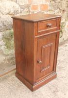 French Chestnut Bedside Cupboard or Night Table (4 of 4)