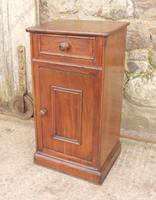 French Chestnut Bedside Cupboard or Night Table (3 of 4)
