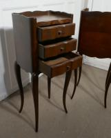 Pair of French Dark Walnut Bedside Cabinets with Drawers (2 of 5)
