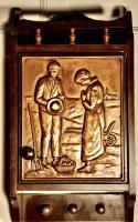 Breton Arts & Crafts Copper Cloakroom Wall Cabinet
