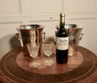 Fine Pair of French Art Deco Style Wine Coolers, Champagne Ice Buckets