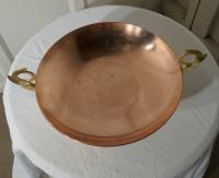 Arts and Crafts Copper Tazza Fruit Dish with Brass Handles (3 of 6)
