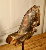 Primitive Architectural Carved Wood Mounted Indian Horse Head (3 of 6)