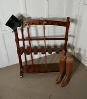 Double Sided Georgian Mahogany Boot & Whip Rack