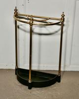 Half Round Brass & Iron Stick Stand or Umbrella Stand